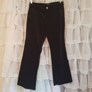 Jones New York black velvet pant